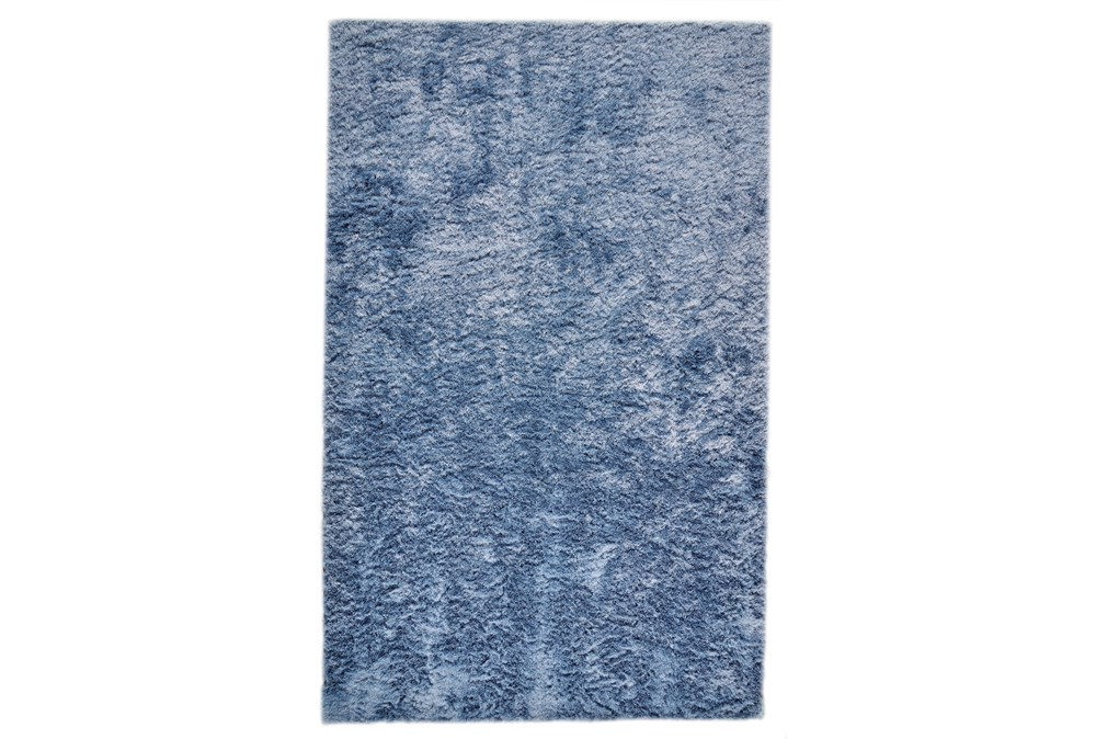 57X90 Rug-Luxe Sheen Light Blue