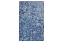 96 Inch Round Rug-Luxe Sheen Light Blue