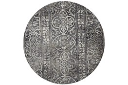 105 Inch Round Rug-Alexander Charcoal/Ivory