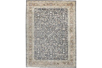 59X92 Rug-Traditional Border Charcoal/Beige