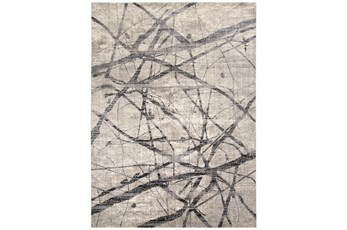 63X90 Rug-Natural Abstract Charcoal/Grey