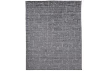 114X162 Rug-Taupe And Ivory Organic Tribal