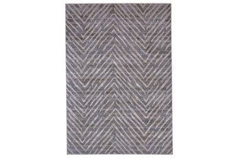 120X158 Rug-Broken Chevron Silver/Grey