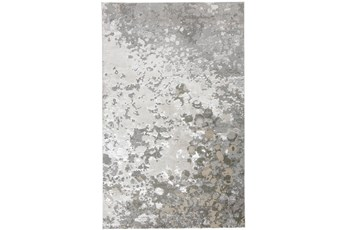 60X96 Rug-Silver Metallic Abstract