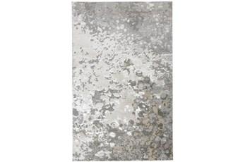96X132 Rug-Silver Metallic Abstract