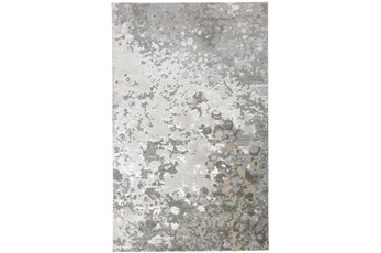120X158 Rug-Silver Metallic Abstract