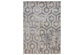 60X96 Rug-Geometric Quatrefoil Beige/Grey