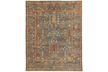 102X138 Rug-Gramoy Hand Knotted Blue/Rust