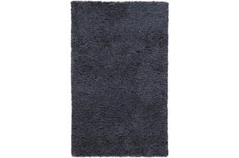 60X96 Rug-Wool Yarn Shag Navy