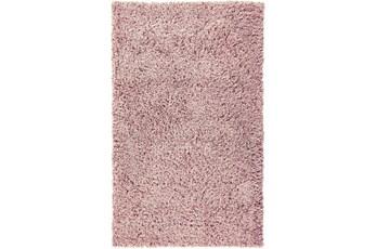 60X96 Rug-Wool Yarn Shag Pink