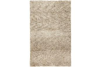 60X96 Rug-Wool Yarn Shag Taupe