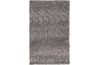 60X96 Rug-Wool Yarn Shag Grey