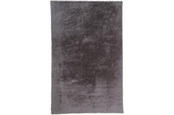 48X72 Rug-Feather Soft Shag Light Grey
