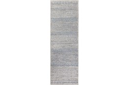 31X96 Rug-Print Lines Zora Blue