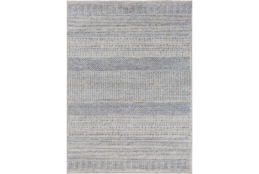 94X122 Rug-Print Lines Zora Blue