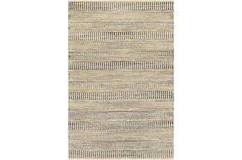120X168 Rug-Jute Stripes Blue/Natural