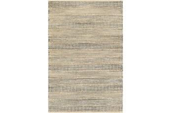 60X96 Rug-Jute Stripes Blue/Natural