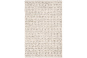 60X90 Rug-Diamond Stripe Flat Weave Natural