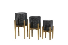 8/9/11 Inch Mesh Planter On Stand Set Of 3