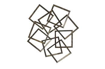 Wall Decor Scattered Bronze Boxes