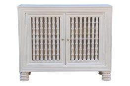 White Wash 2 Door Spindle Chest