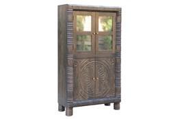 Charcoal 2 Door Wine Cabinet