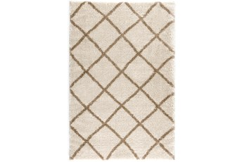 63X90 Rug-Diamond Shag Bronze