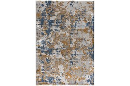 94X126 Rug-Abstract Copper/Blue
