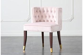 Blush Velvet Dining Chair