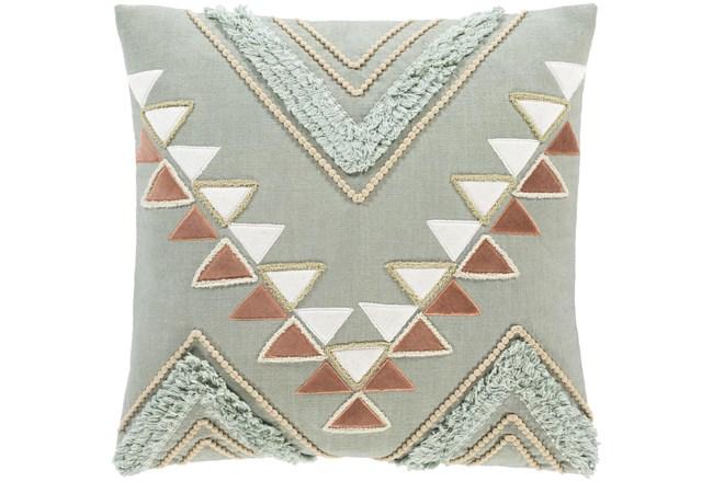 Accent Pillow-Boho Mint/Rust 18X18 - 360