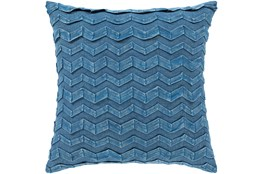 Accent Pillow-Zig Zag Denim 18X18
