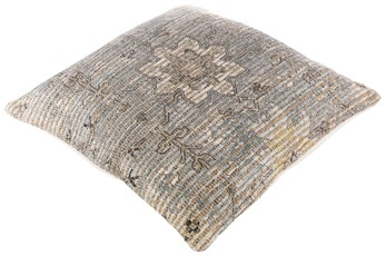 Accent Pillow-Jute Traditional Pewter 26X26
