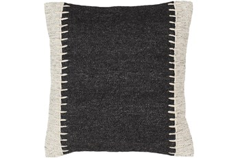 Accent Pillow-Top Stitch Black 20X20
