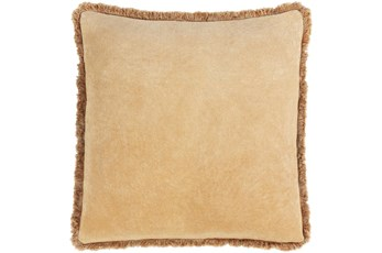 Accent Pillow-Brush Fringe Camel 20X20