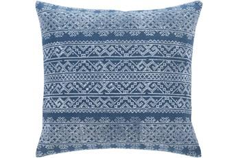 Accent Pillow-Block Print Denim 22X22
