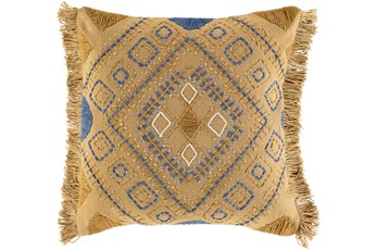 Accent Pillow-Boho Mustard/Denim 18X18