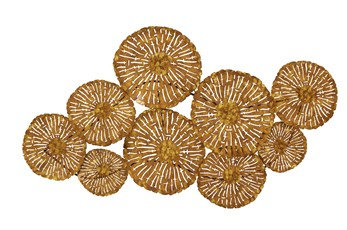 22 X 42 Brown Flower Montage Wall Decor