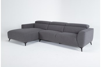 "Lucas Graphite 2 Piece 115"" Sectional With Left Arm Facing Chaise"