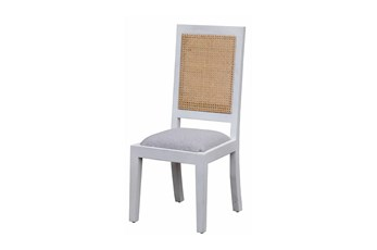 White Wash + Cane Dining Chair