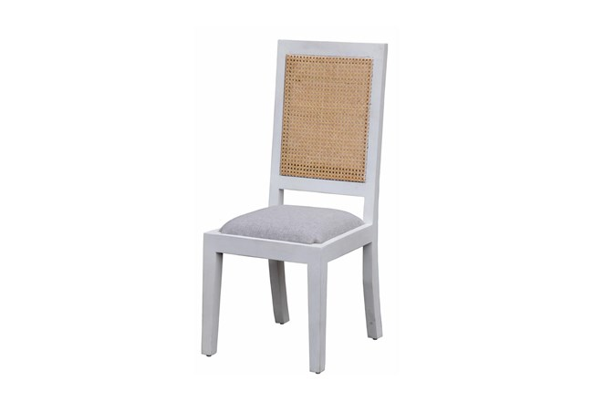 White Wash + Cane Dining Chair  - 360