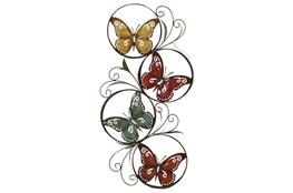 Multi 36 Inch Metal Butterfly Wall Decor