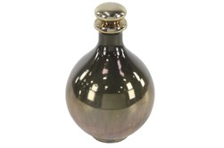 Gold 13 Inch Glass Bottle