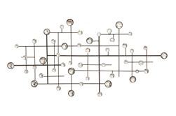 Silver 42 Inch Metal/Glass Bead Wall Decor