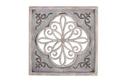 Grey 36 Inch Wood Metal Wall Panel