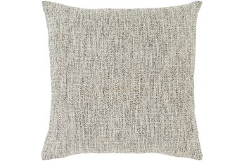 Accent Pillow-Metallic Tweed Grey 18X18
