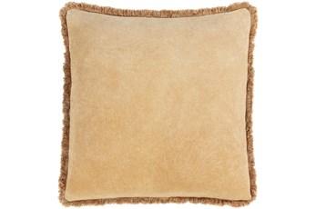 Accent Pillow-Brush Fringe Camel 18X18