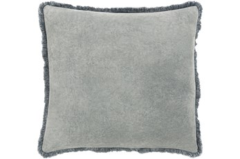Accent Pillow-Brush Fringe Pewter 22X22