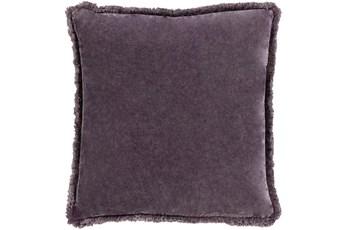 Accent Pillow-Brush Fringe Eggplant 18X18