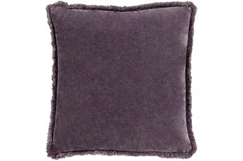 Accent Pillow-Brush Fringe Eggplant 22X22