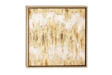 Beige 24 Inch Framed Canvas Art